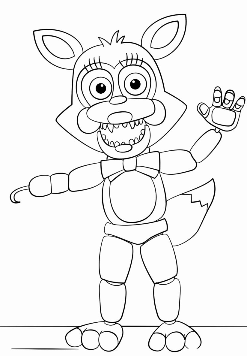 toy freddy coloring pages fnaf toy foxy coloring page from five nights at freddy39s coloring freddy toy pages