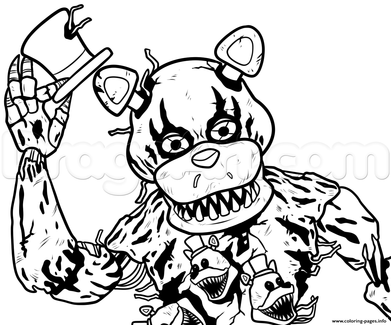 toy freddy coloring pages funtimme foxy and funtime freddy free coloring pages coloring freddy pages toy