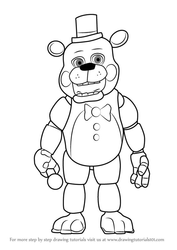 toy freddy coloring pages toy freddy coloring pages at getdrawings free download toy freddy coloring pages