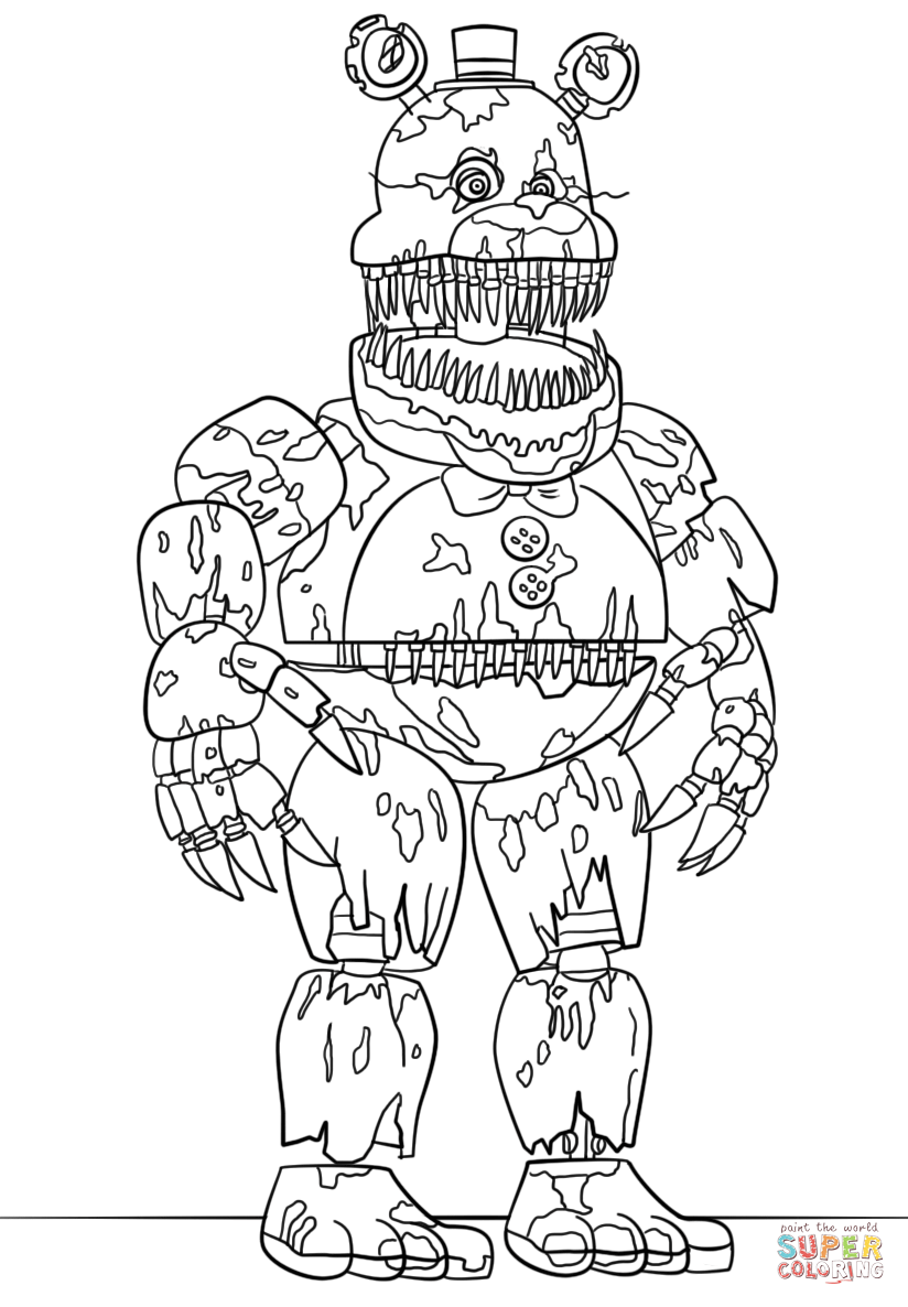 toy freddy coloring pages toy freddy free coloring pages freddy toy pages coloring