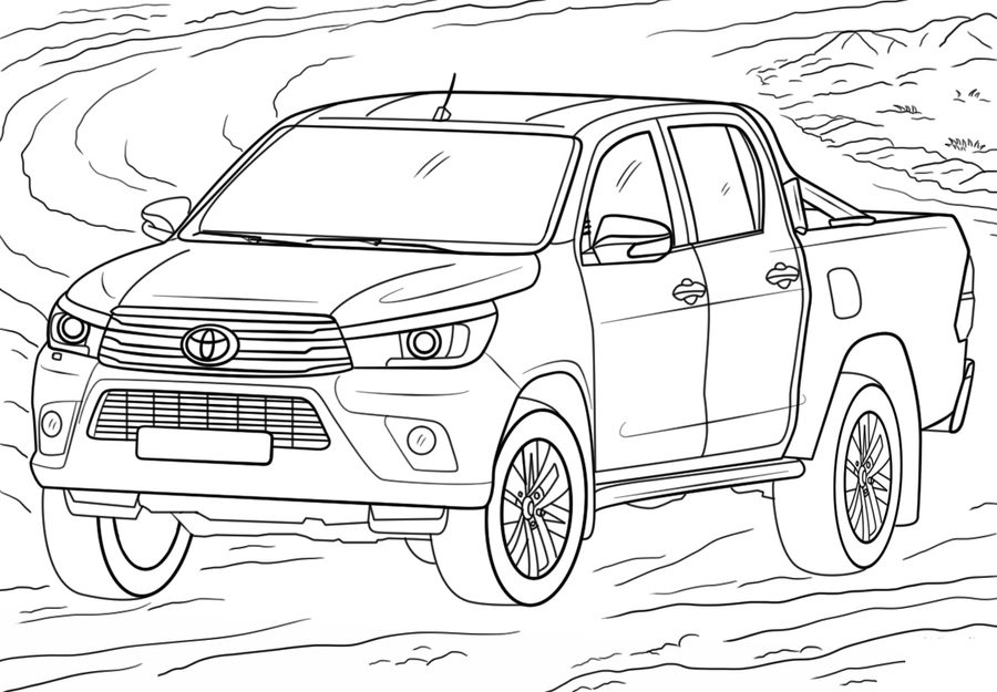 toyota car coloring pages toyota land cruiser prado coloring page free printable coloring toyota car pages