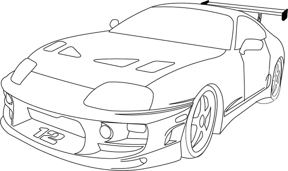 toyota car coloring pages toyota supra drawing toyota supra car drawings supra coloring car pages toyota