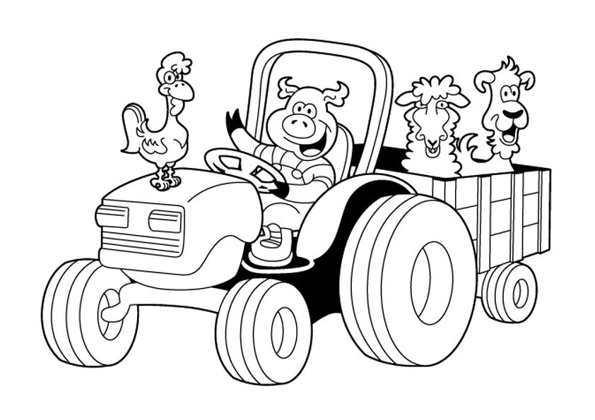 tractor coloring page art of the tractor coloring book octane press coloring tractor page 1 1