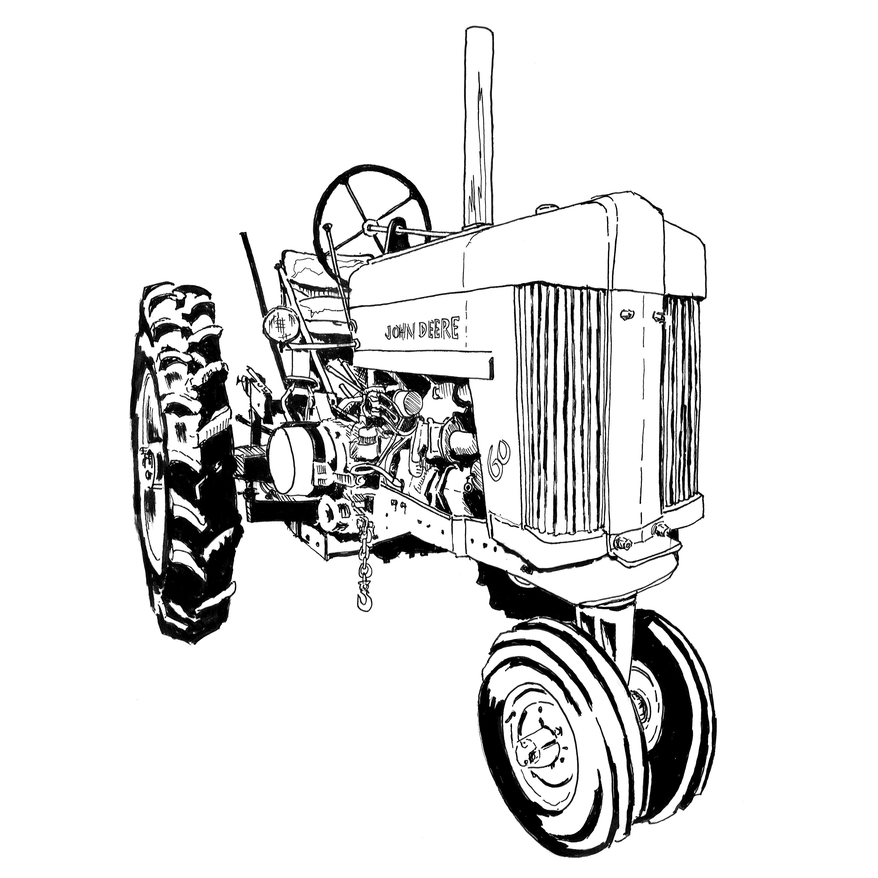 tractor coloring page john deere tractor drawing tractor coloring page