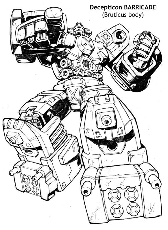 transformers barricade coloring pages barricadebot2jpg photo by ultracomputron photobucket barricade transformers pages coloring