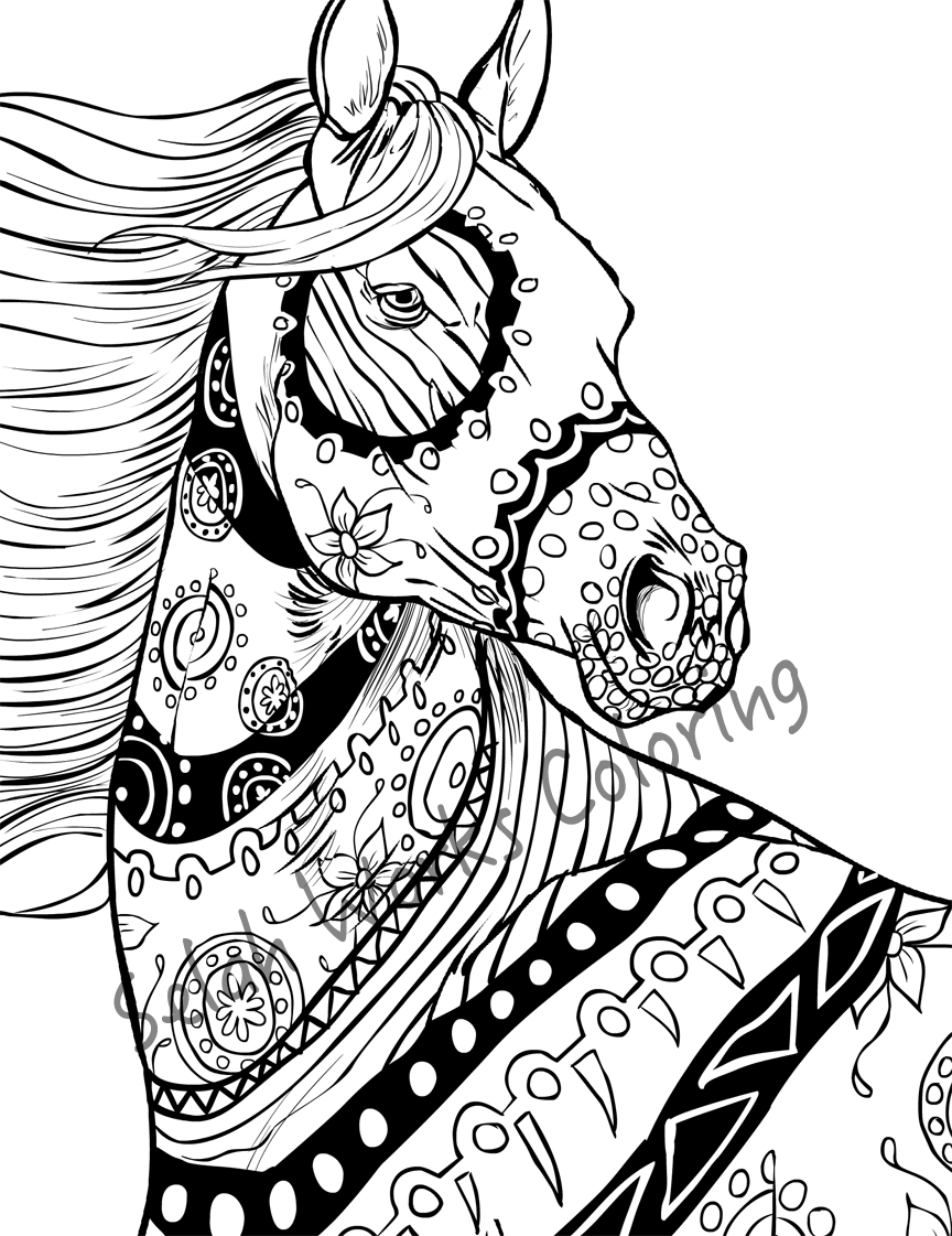 tribal animal coloring pages seahorse with tribal pattern coloring page free pages coloring tribal animal