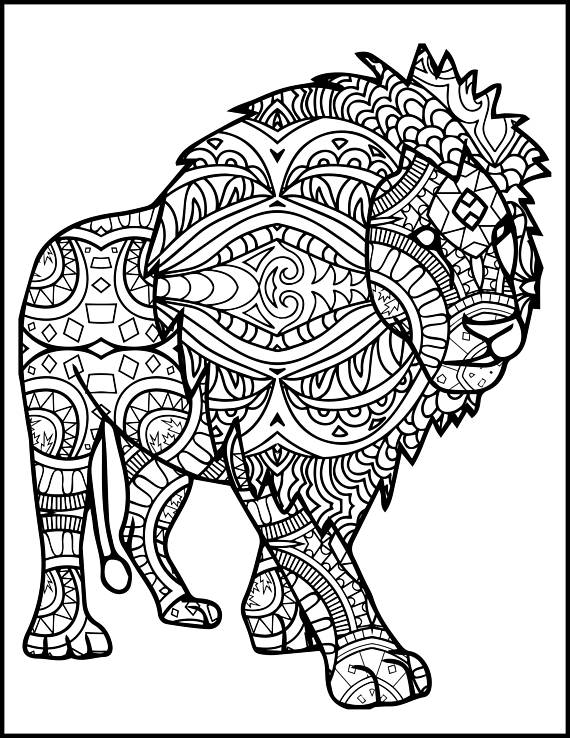 tribal animal coloring pages totem coloring page adults head koala zoo animal ethnic animal tribal coloring pages