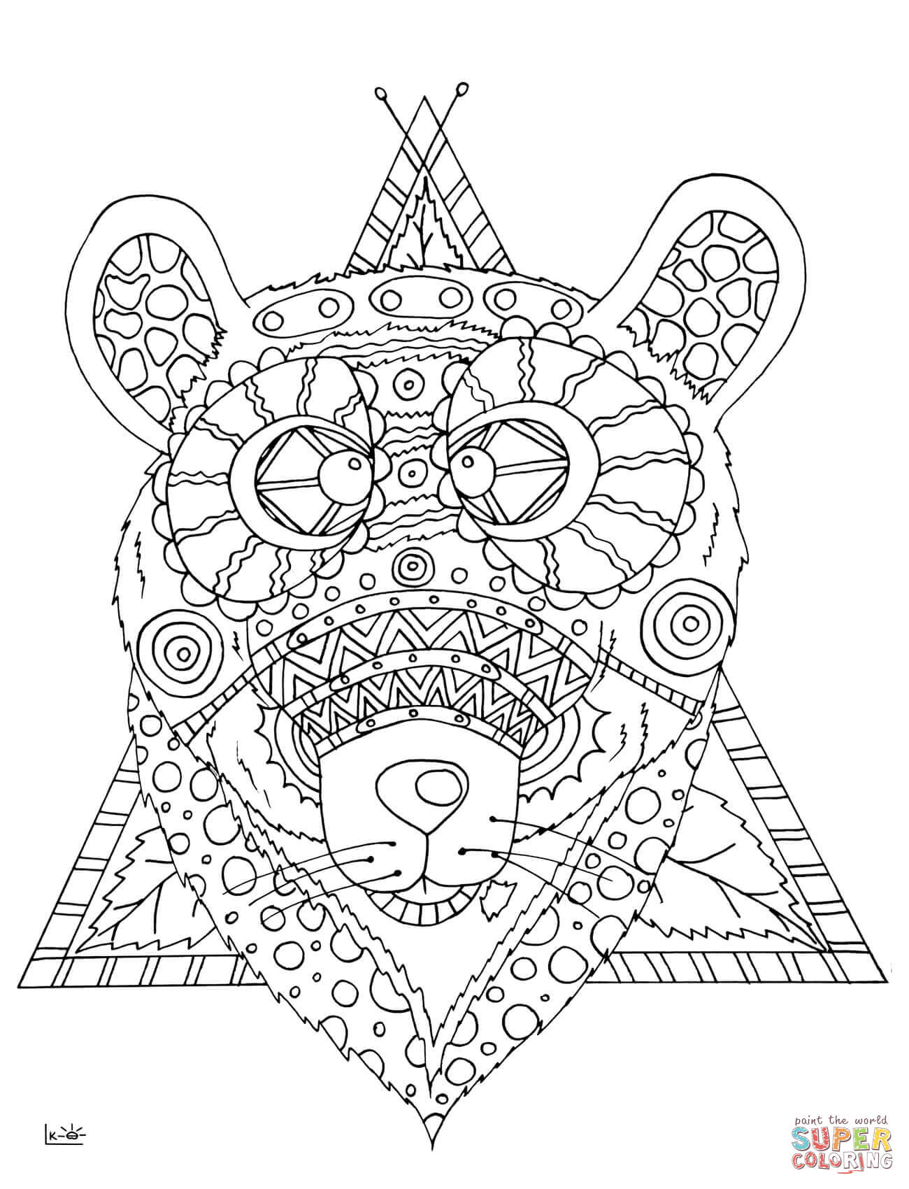 tribal animal coloring pages tribal animal coloring pages at getcoloringscom free pages animal tribal coloring