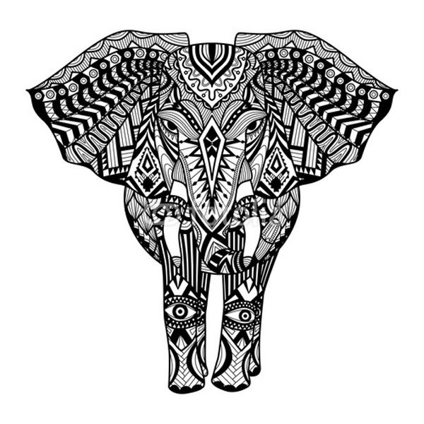 tribal animal coloring pages tribal elephant elephant coloring page mandala coloring tribal coloring animal pages