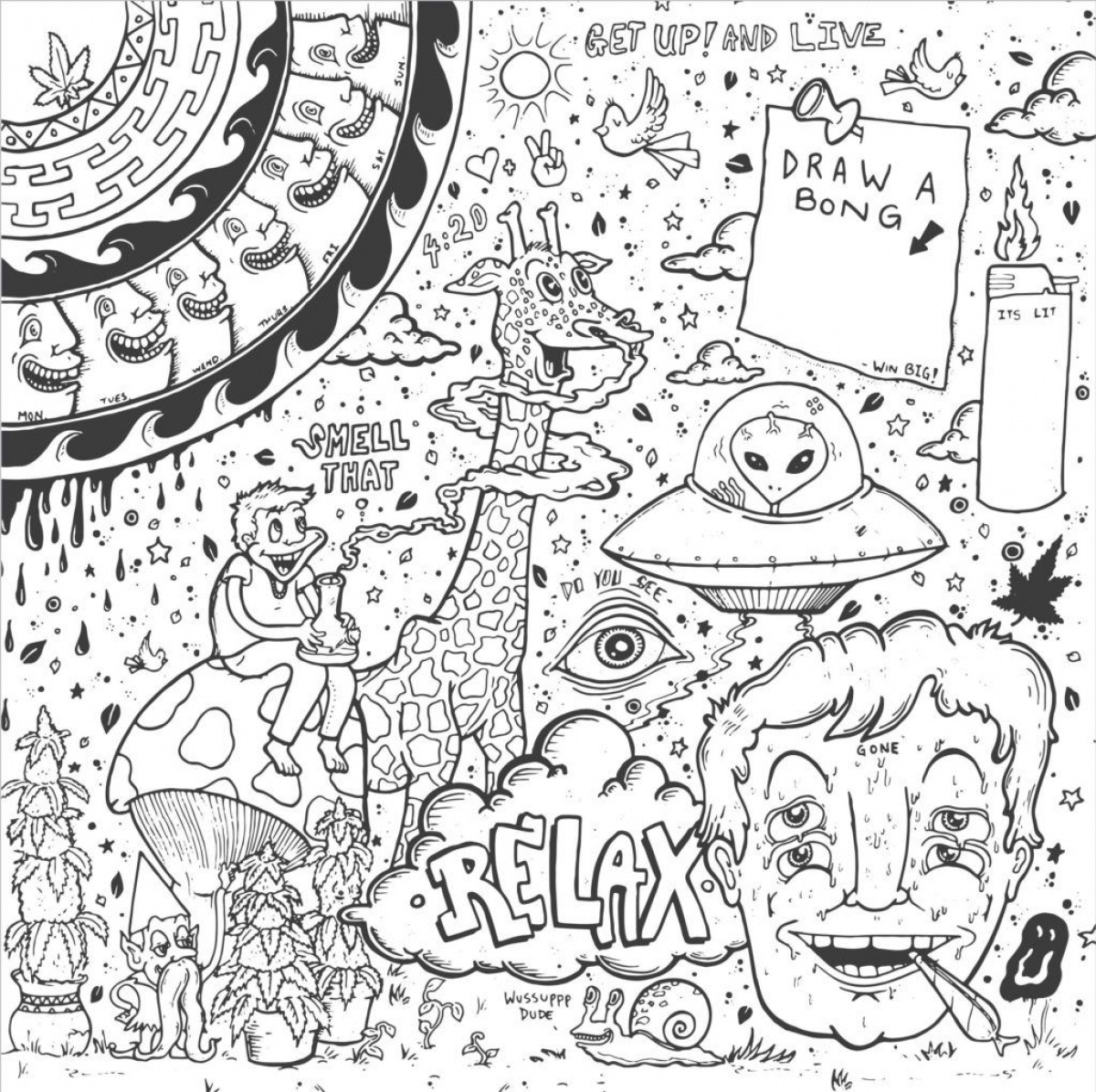 trippy coloring pages printable 7 best images of printable abstract coloring pages stoner pages printable trippy coloring