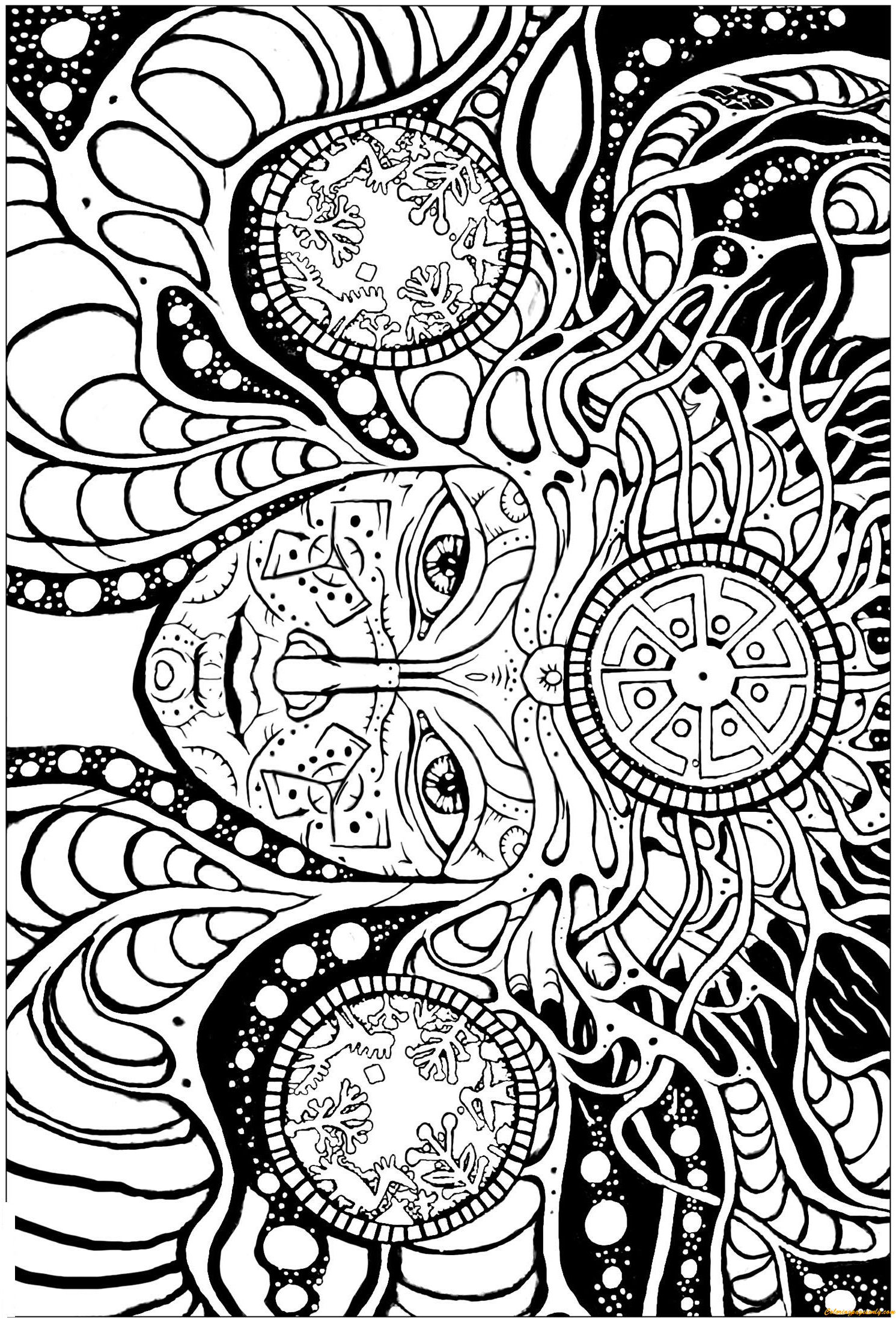 trippy coloring pages printable psychedelic coloring pages coloring home pages coloring printable trippy
