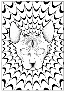 trippy coloring pages printable psychedelic landscape and characters psychedelic adult trippy pages coloring printable