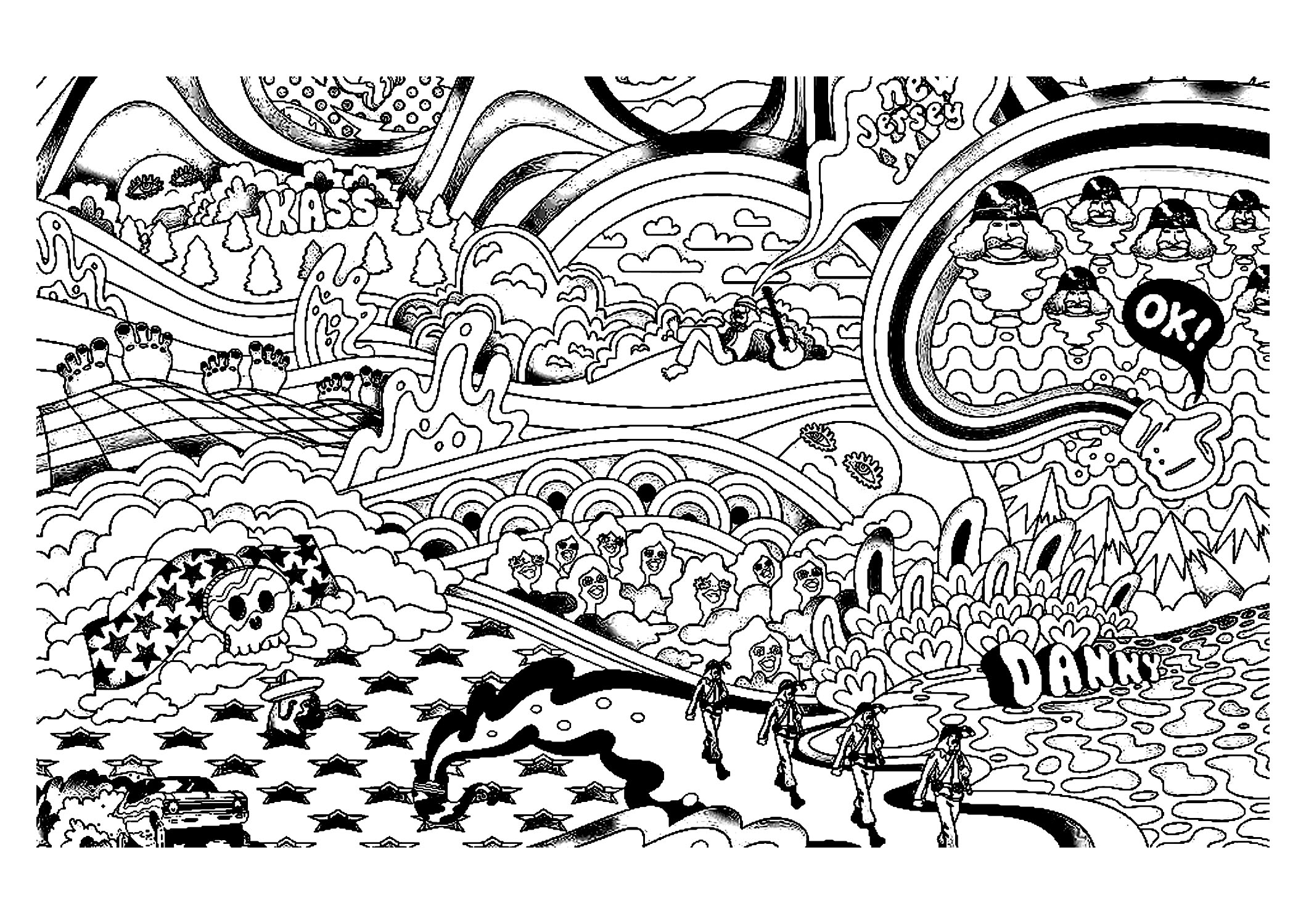 trippy coloring pages printable trippy coloring page printable pages printable coloring trippy