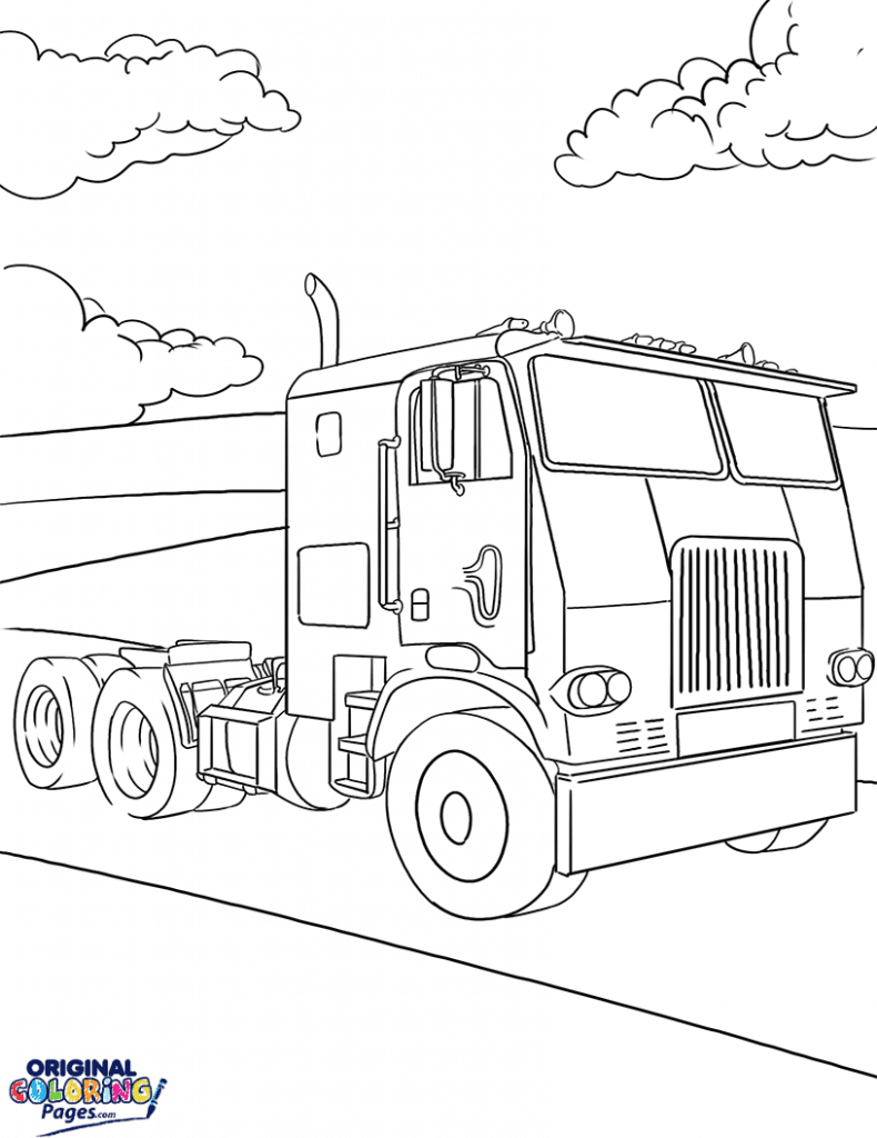 truck and tractor coloring pages tractor and a dog coloring page download print online coloring tractor pages and truck