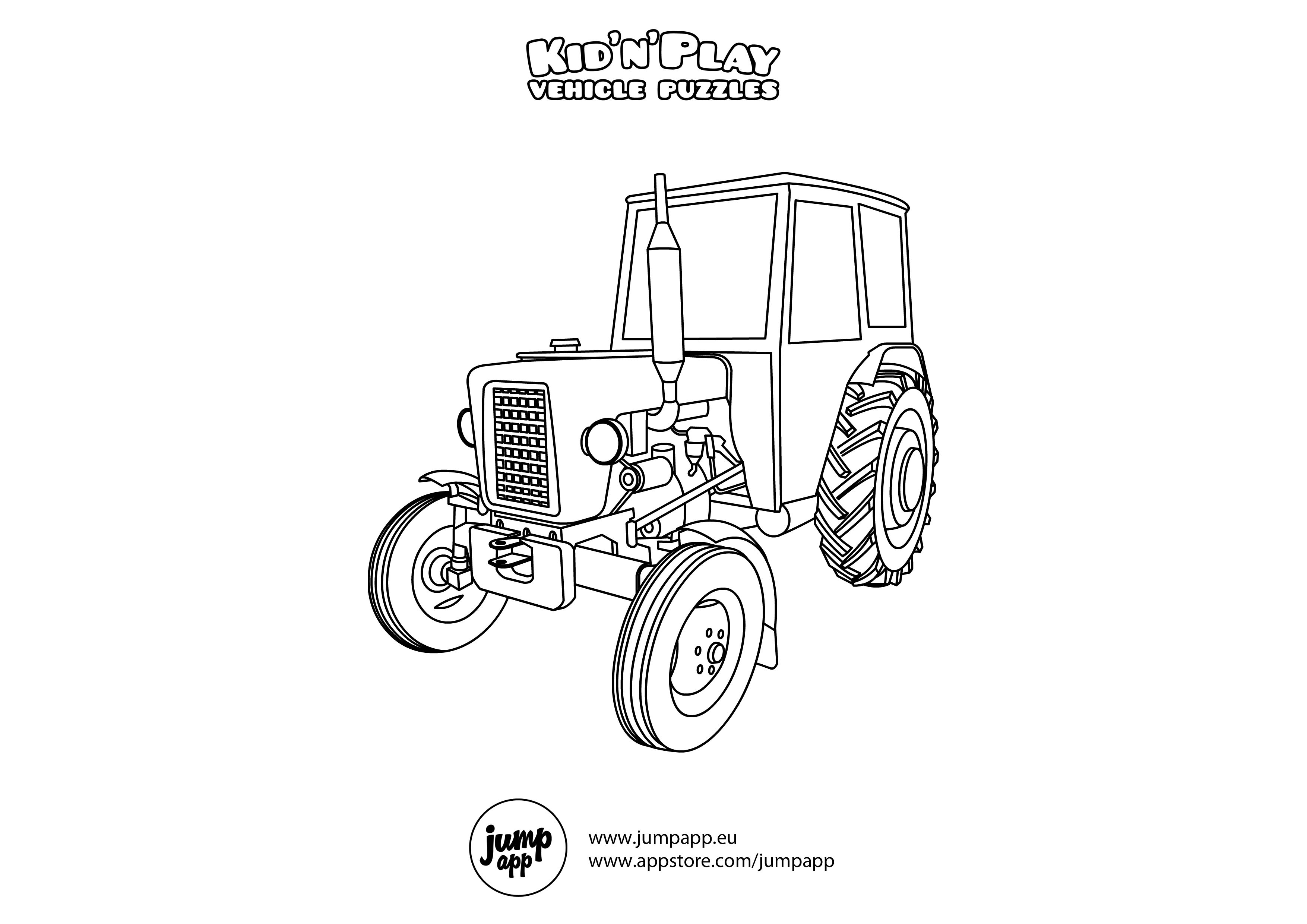truck and tractor coloring pages tractor trailer semi truck coloring page tractor trailer truck and coloring pages tractor