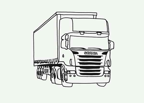truck and tractor coloring pages tractor trailer sketch at paintingvalleycom explore tractor truck pages and coloring
