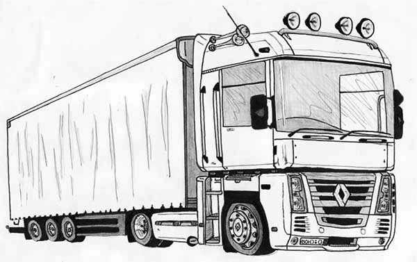 truck colouring in coloring page fire truck scania truck in colouring