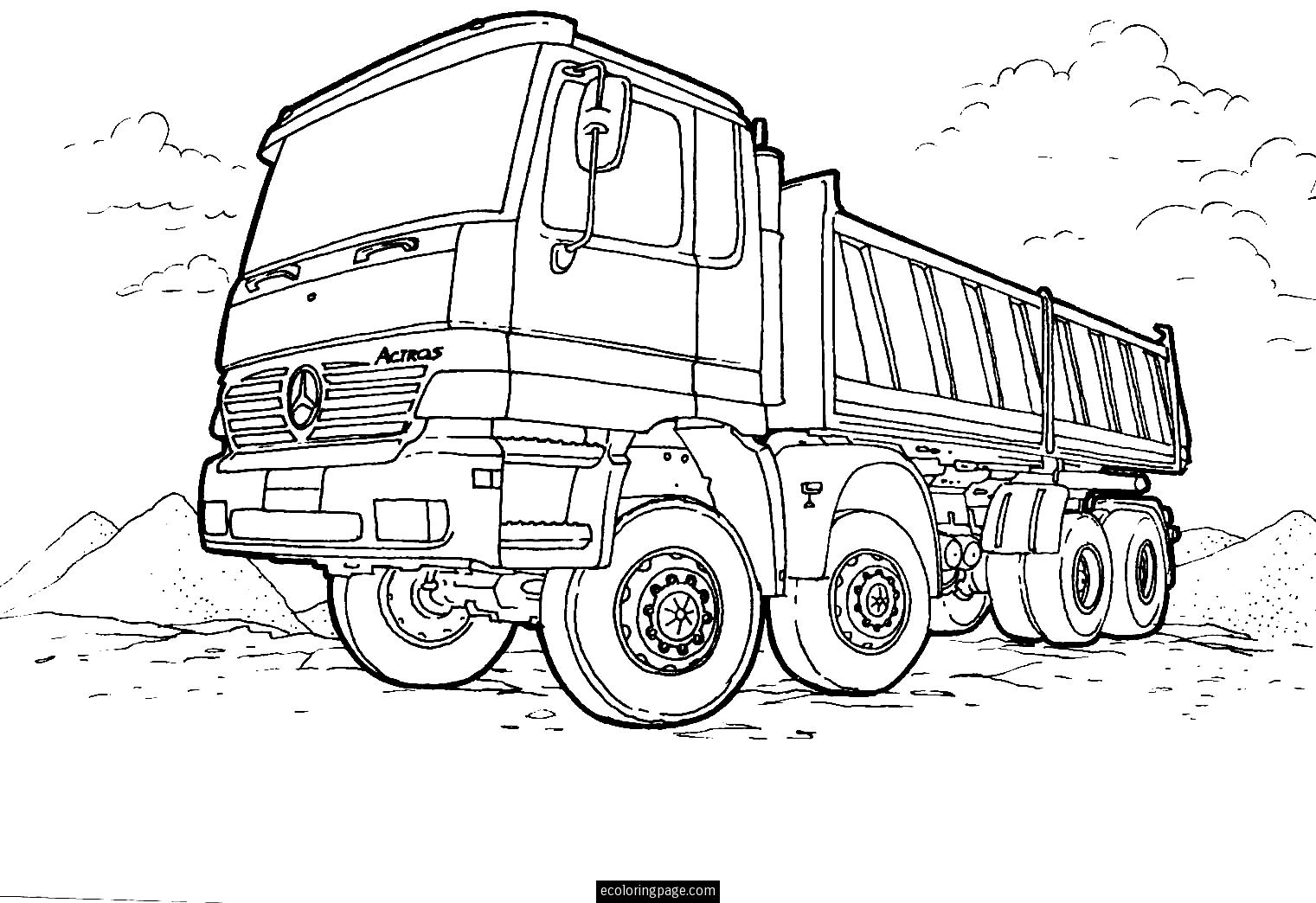 truck colouring in dirty dump truck coloring pages dump trucks free in truck colouring
