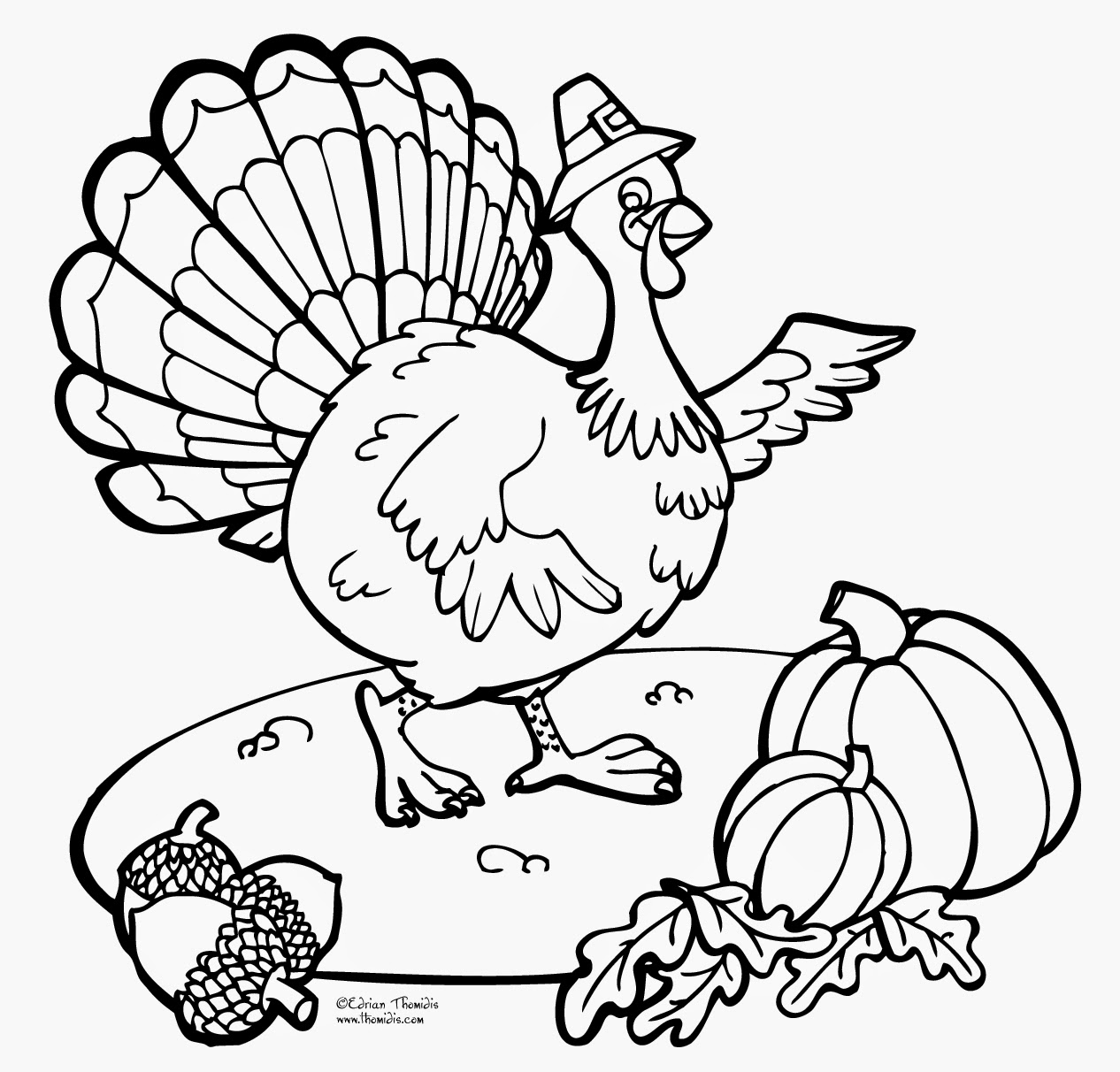 turkey color page thanksgiving day printable coloring pages minnesota miranda turkey page color