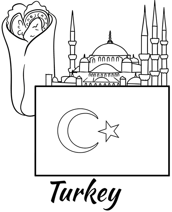 turkey flag coloring page 60 best olympics images coloring pages flag coloring page flag turkey coloring