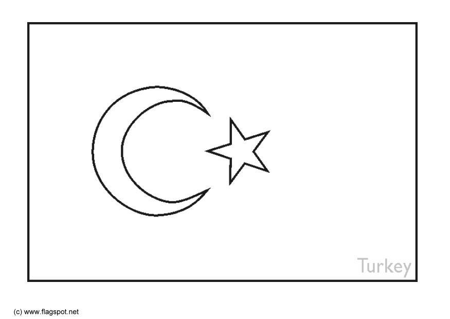 turkey flag coloring page december 2011 flag page turkey coloring