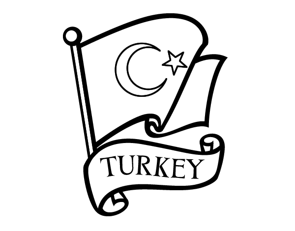 turkey flag coloring page flag of turkey coloring page coloringcrewcom page turkey coloring flag