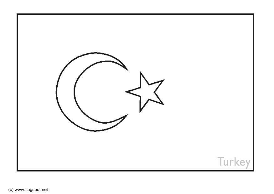 turkey flag coloring page flag of turkey educational coloring page to print flag page turkey coloring