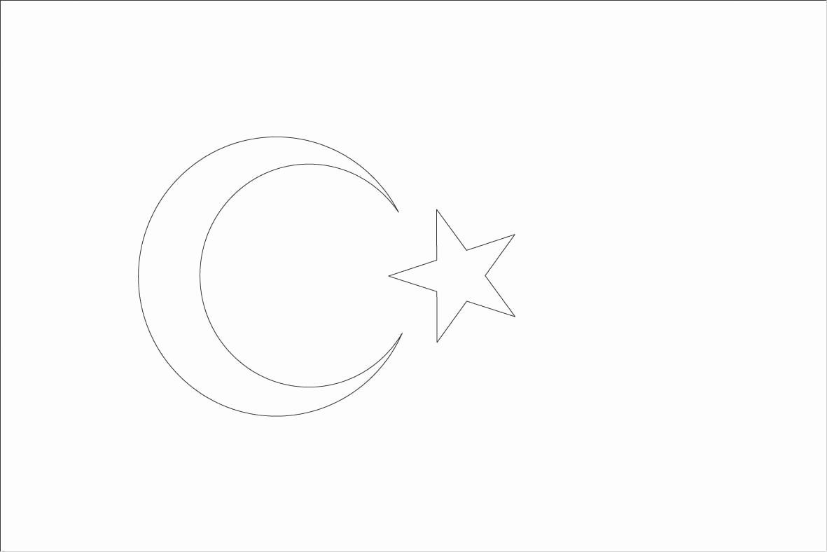 turkey flag coloring page flags of countries of asia coloring pages printable games turkey page coloring flag