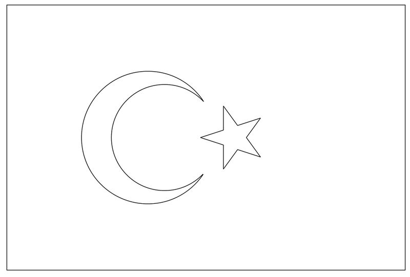 turkey flag coloring page the national flag of turkey coloring page coloring sheets coloring page turkey flag