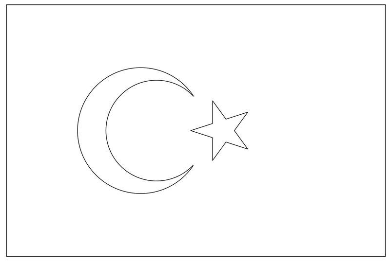 turkey flag coloring page the national flag of turkey coloring page flag page coloring turkey