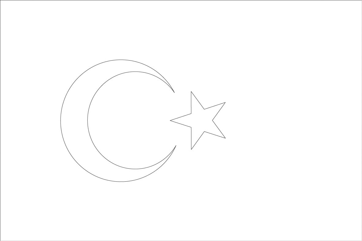 turkey flag coloring page turkey flag coloring sheet sonlight core c window on coloring flag page turkey