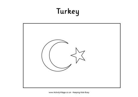 turkey flag coloring page turkish flag colouring page turkey flag flag printable turkey flag page coloring