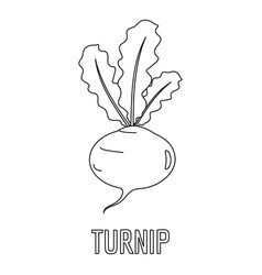 turnip outline turnip icon outline style stock vector image 79998707 outline turnip