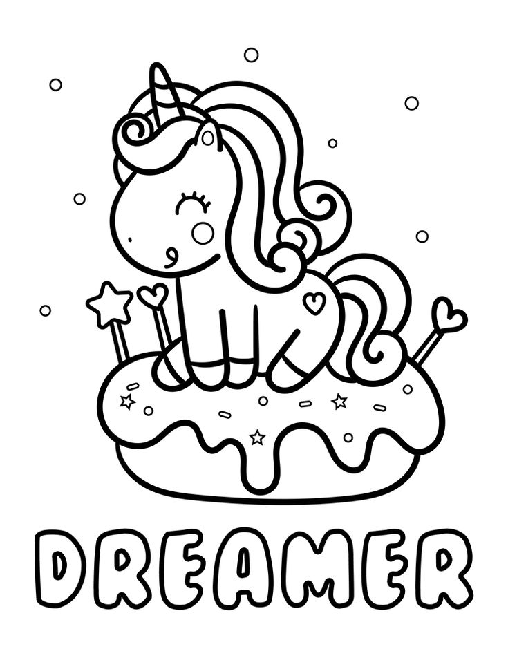 unicorn donut coloring page donut coloring pages coloring home unicorn donut coloring page