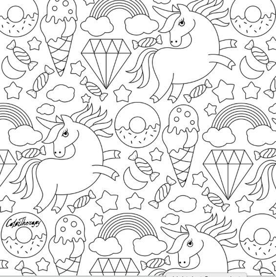 unicorn donut coloring page pin by michele sandecki on print free coloring pages coloring page unicorn donut