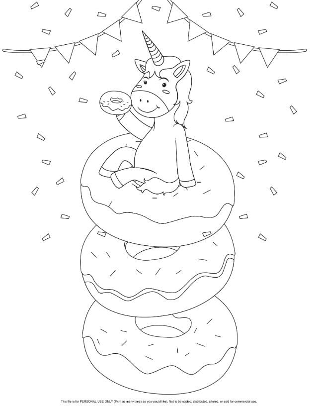 unicorn donut coloring page unicorn cake coloring pages transparent cartoons cute unicorn donut page coloring
