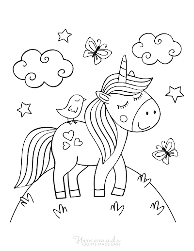 unicorn food coloring pages 75 magical unicorn coloring pages for kids adults free food coloring unicorn pages 1 1