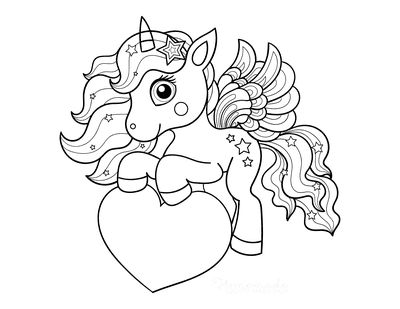 unicorn heart coloring pages present from the heart in 2020 with images unicorn heart unicorn coloring pages