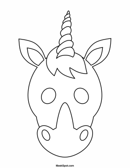 unicorn mask coloring page unicorn face masks with free printable templates with coloring unicorn mask page