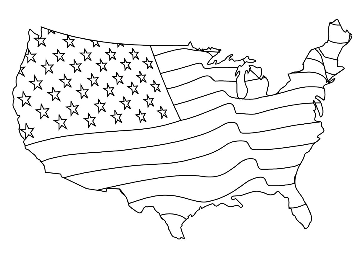 usa flag to colour american flag coloring page for the love of the country to colour usa flag