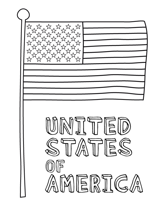 usa flag to colour american flag coloring page for the love of the country to usa colour flag