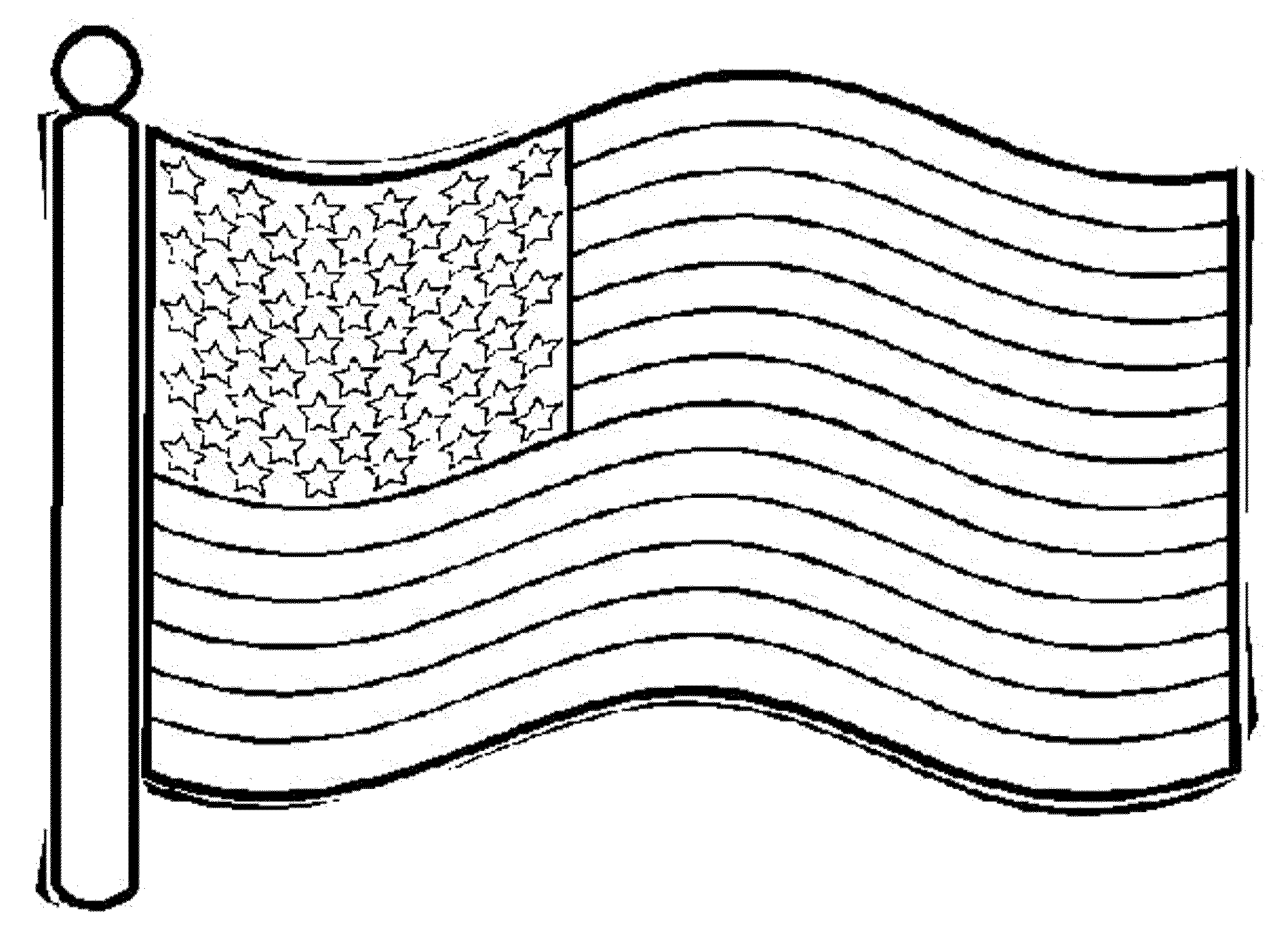 usa flag to colour waving american flag drawing free download on clipartmag usa flag to colour