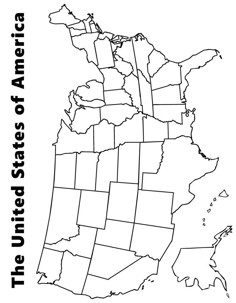 usa map coloring page printable children39s map of the united states printable maps page map usa coloring