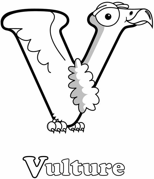 v is for coloring page letter v coloring page v is for vulture coloring home v is for coloring page
