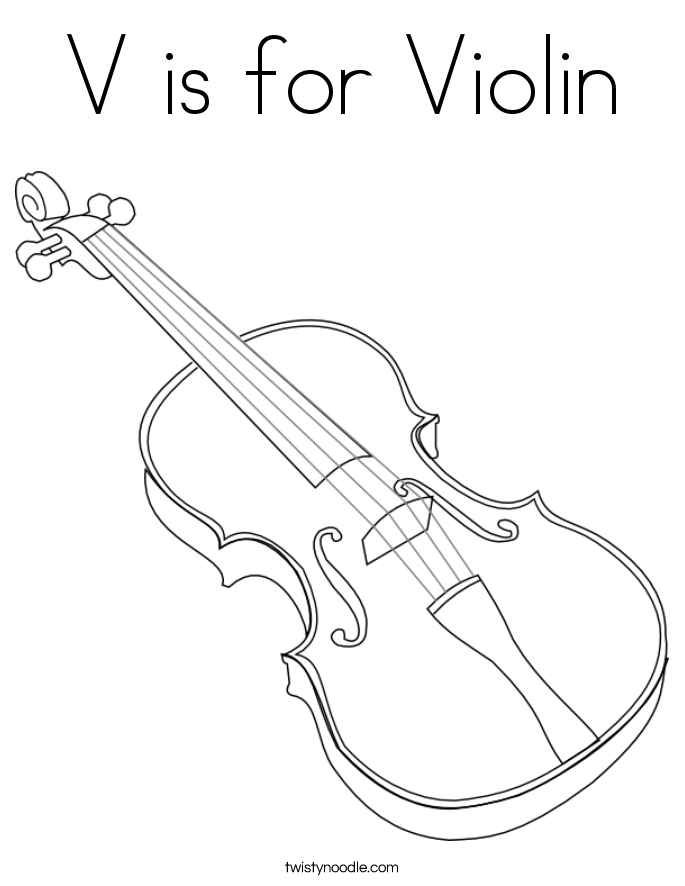 v is for coloring page v is for violin coloring page twisty noodle page v is coloring for