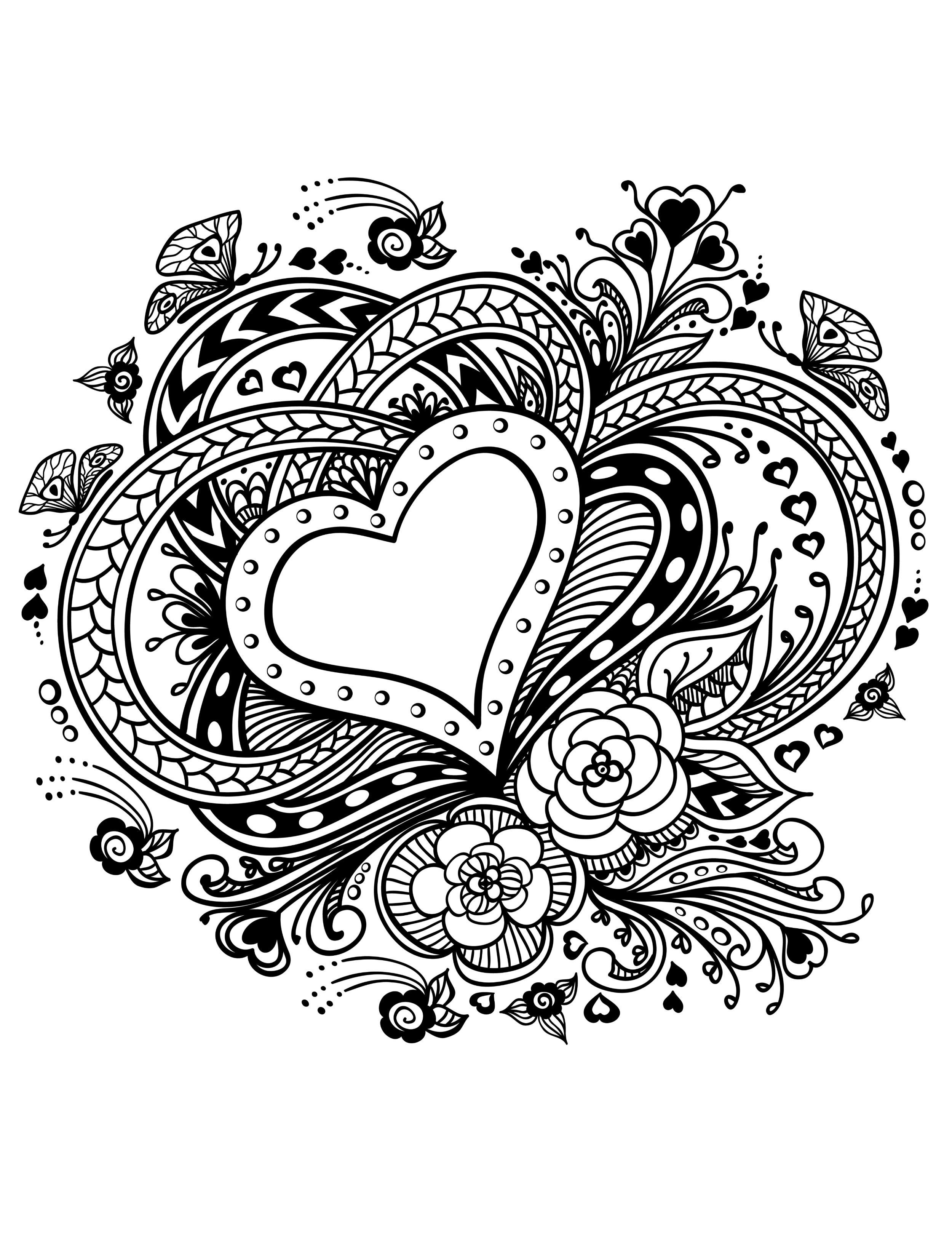 valentines day heart coloring pages simple heart happy valentine39s day coloring page pages valentines coloring heart day