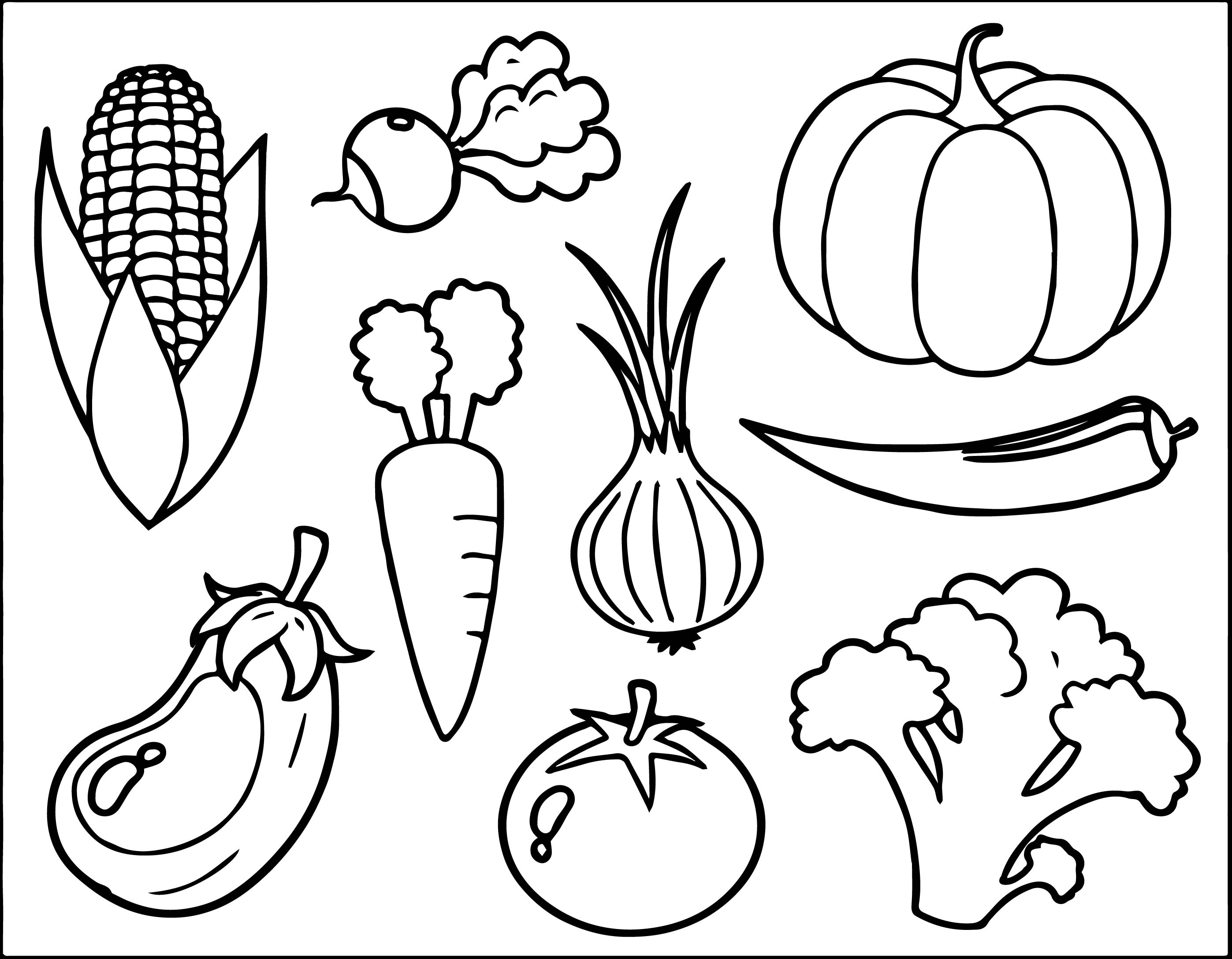 vegetables coloring pages vegetables coloring page wecoloringpagecom pages coloring vegetables