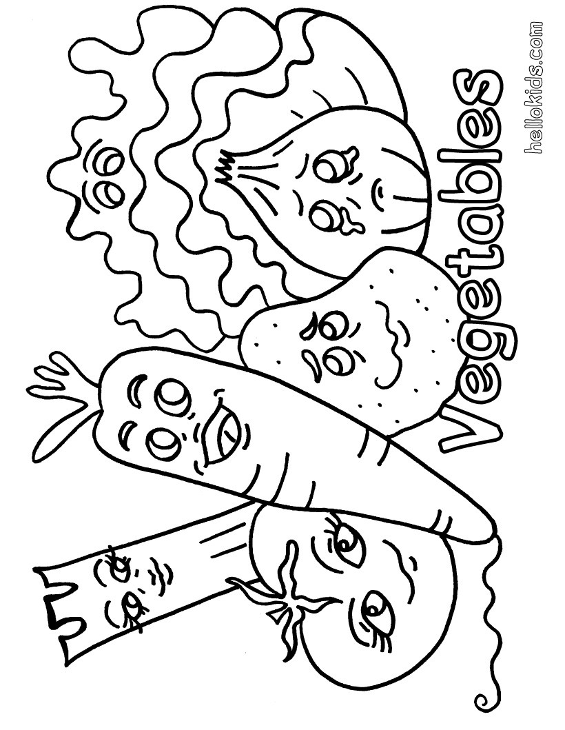 vegetables coloring sheets vegetable coloring pages for childrens printable for free vegetables coloring sheets