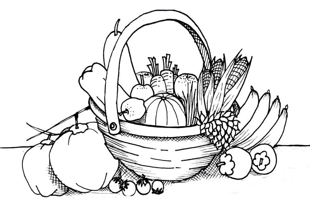 vegetables coloring sheets vegetables drawing for kids at paintingvalleycom coloring vegetables sheets