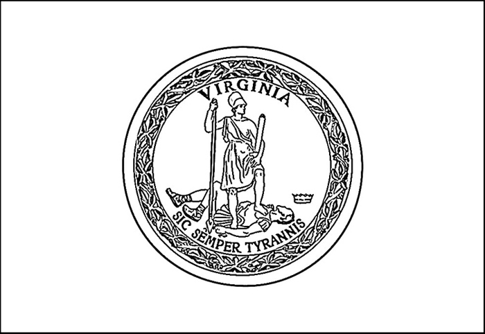 virginia state flag coloring page free virginia flag coloring page virginia state flag coloring page
